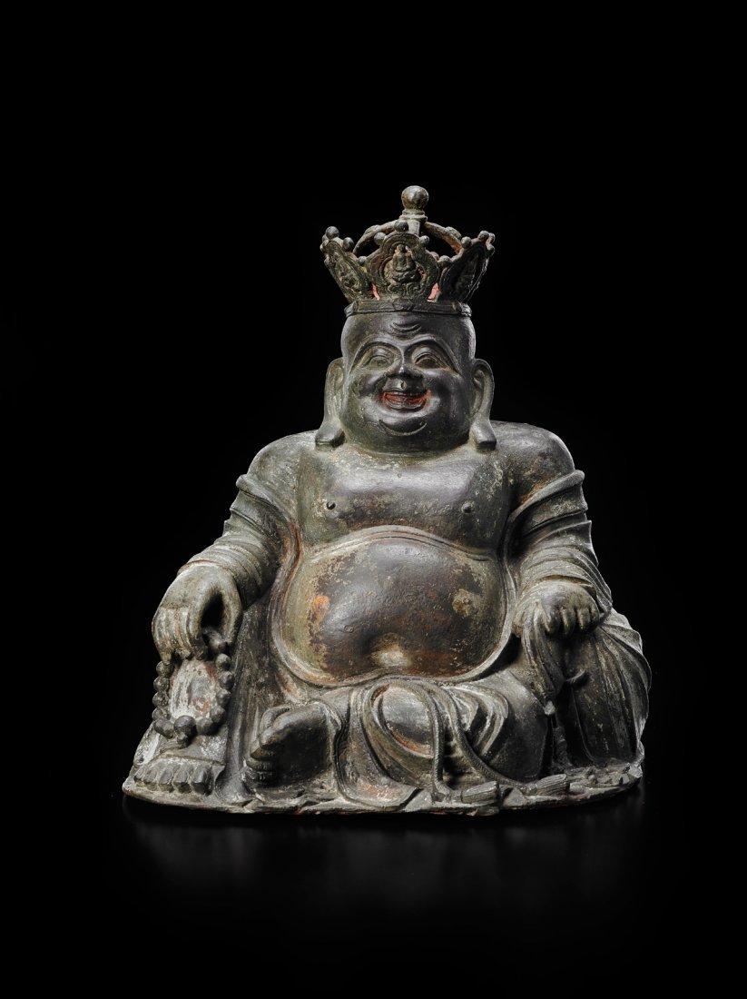 A BRONZE FIGURE OF BUDHAI