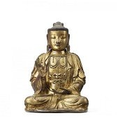 AN IMPERIAL DRY-LACQUER FIGURE OF AVALOKITESVARA