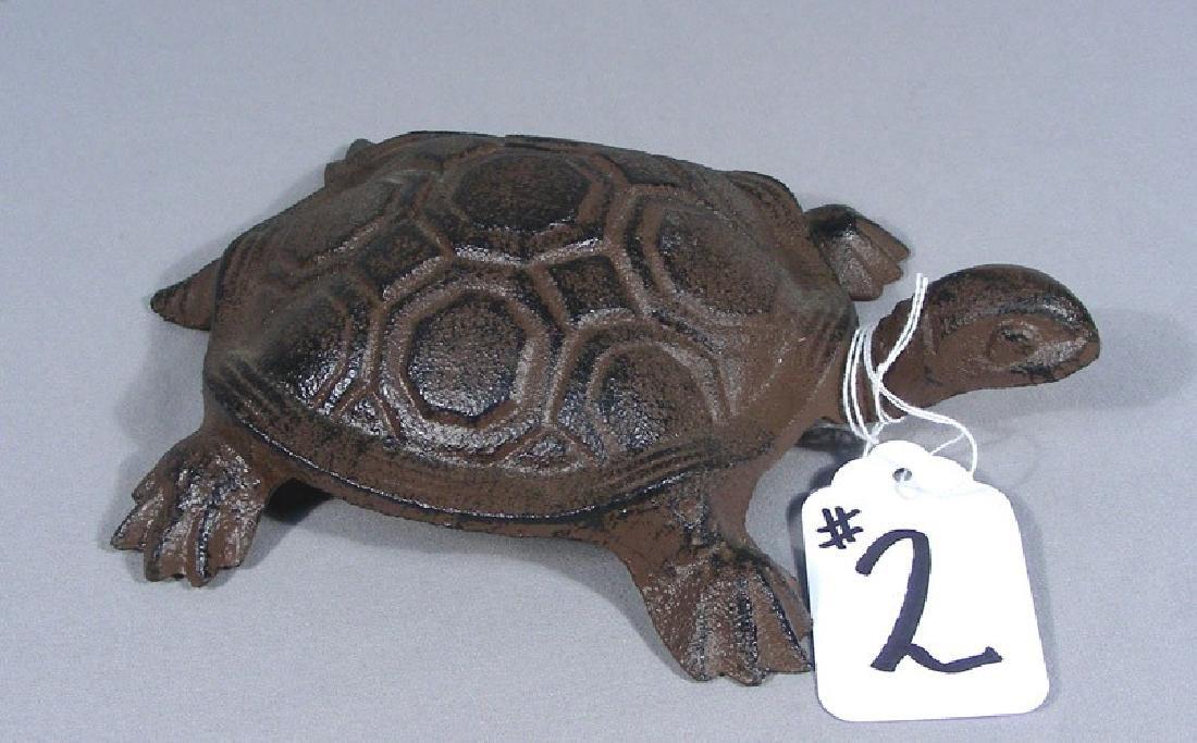 CAST IRON SCULPTURE OF TURTLE