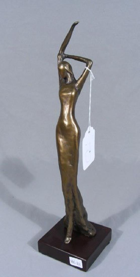 ABSTRACT BRONZE SCULPTURE OF WOMAN