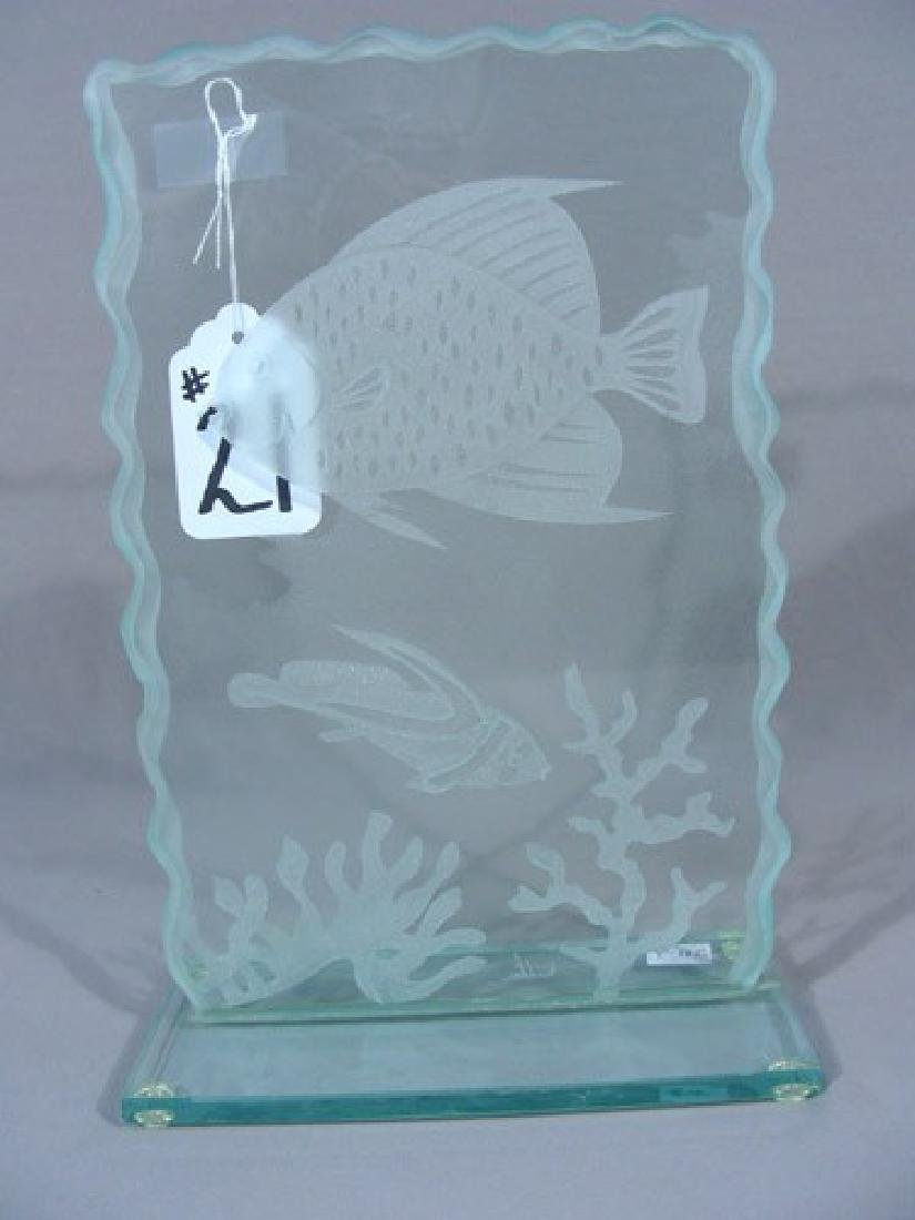 "ETCHED GLASS PANEL ""UNDER THE SEA"""