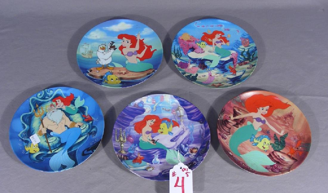 "FIVE WALT DISNEY ""LITTLE MERMAID"" COLLECTORS PLATES"