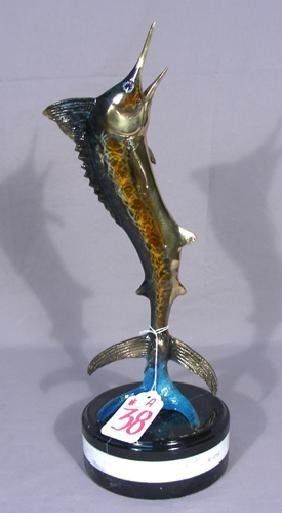 BRONZE SWORD FISH SCULPTURE