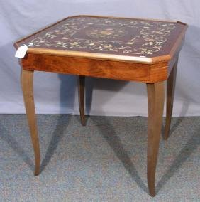 FINE HAND CARVED & INLAID GAME TABLE