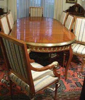 SPECTACULAR ITALIAN DINING ROOM TABLE AND CHAIRS