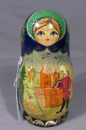 HAND PAINTED RUSSIAN  DOLL