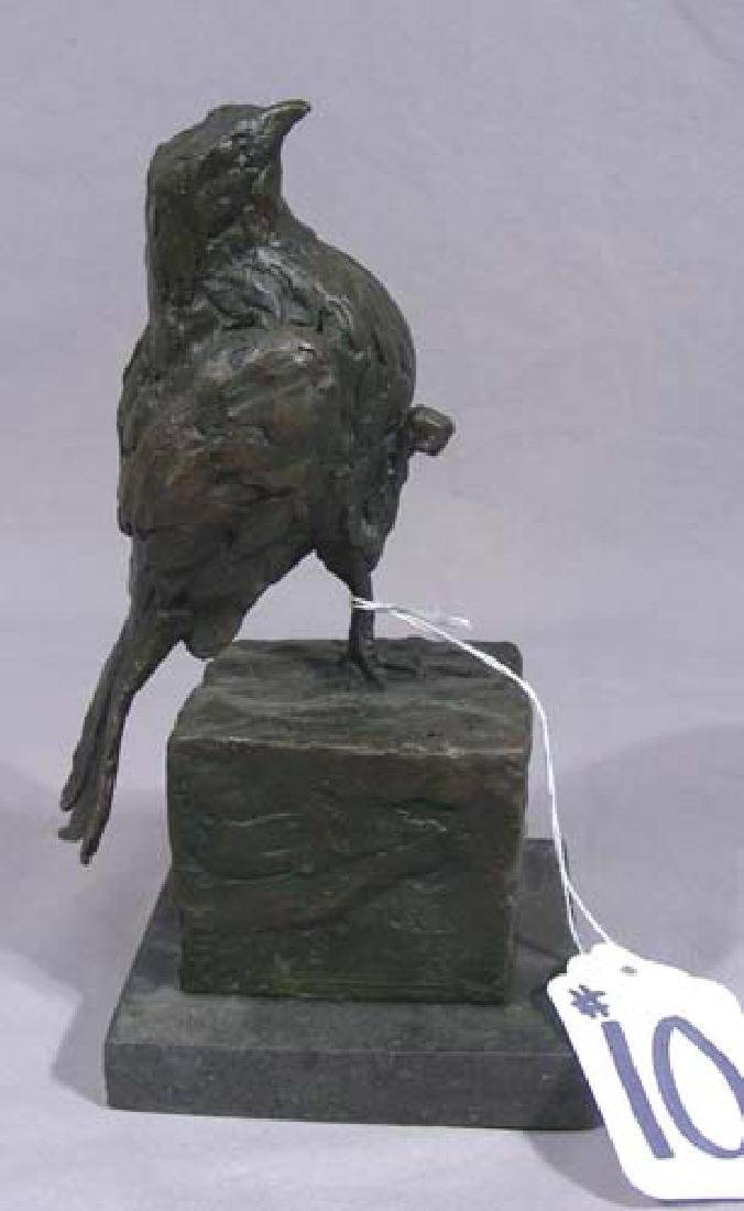 BRONZE ABSTRACT SCULPTURE OF BIRD