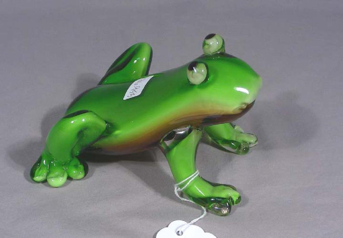 ITALIAN HAND BLOWN ART GLASS FROG