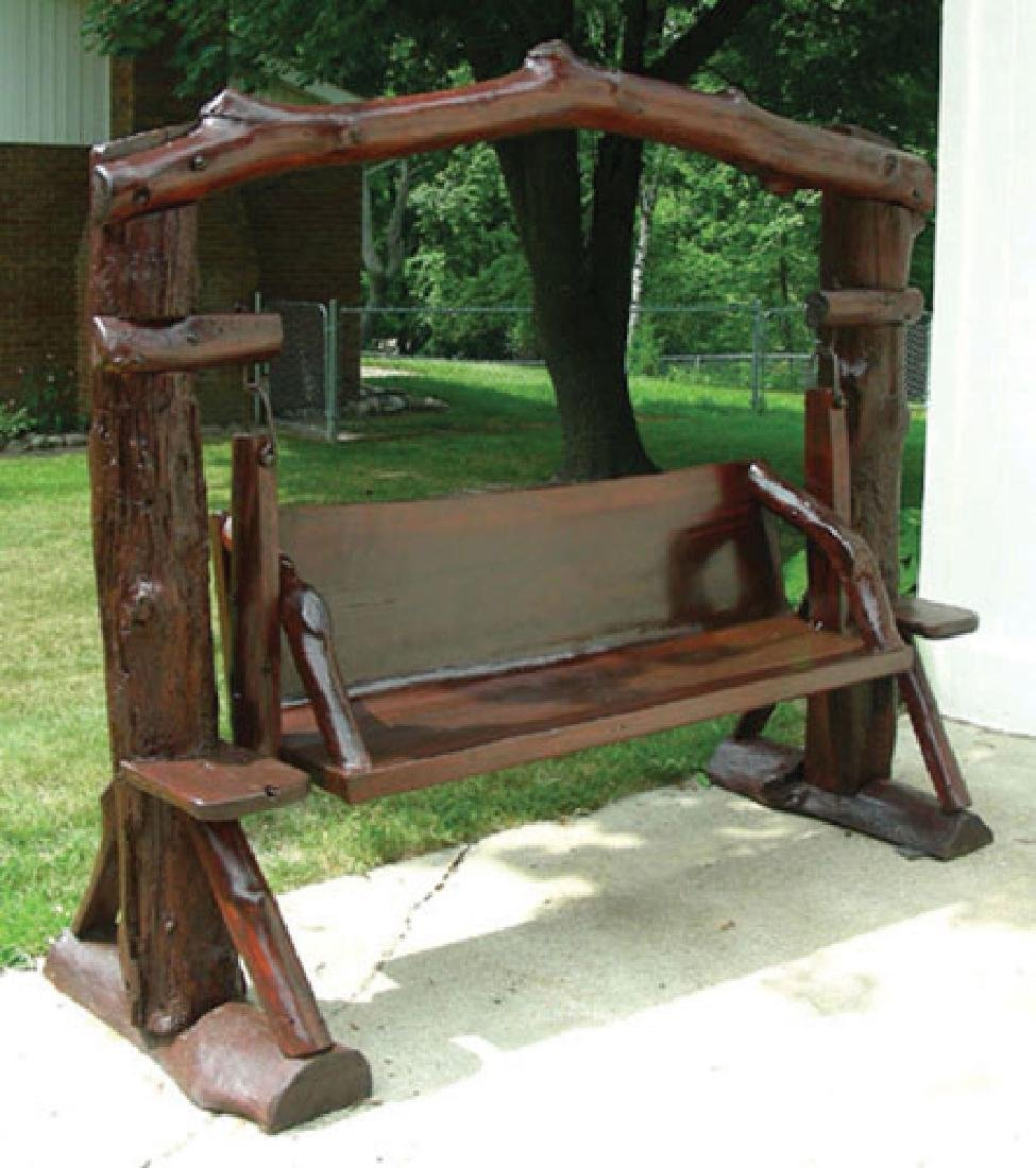 VERY FINE CUSTOM TEAK SWING