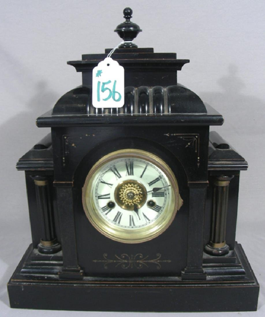 ANTIQUE GERMAN H.A.C. 14 DAY STRIKE MANTLE CLOCK