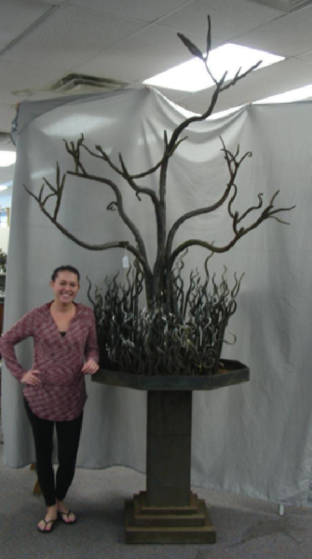 AMAZING VINTAGE CUSTOM MADE HAND FORGED IRON TREE