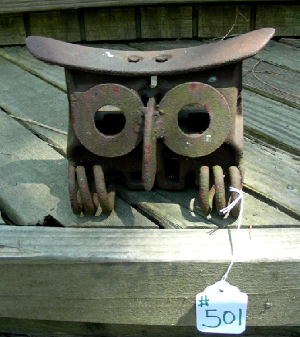 CUSTOM MADE IRON OWL SCULPTURE