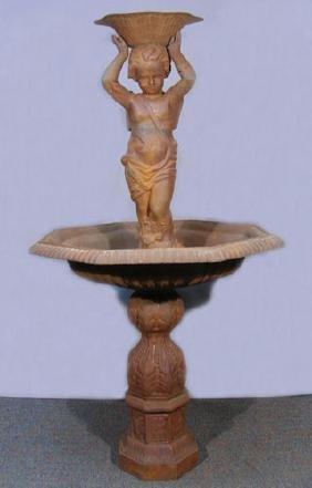 Vintage Cast Iron Figural Bird Bath/planter/fountain