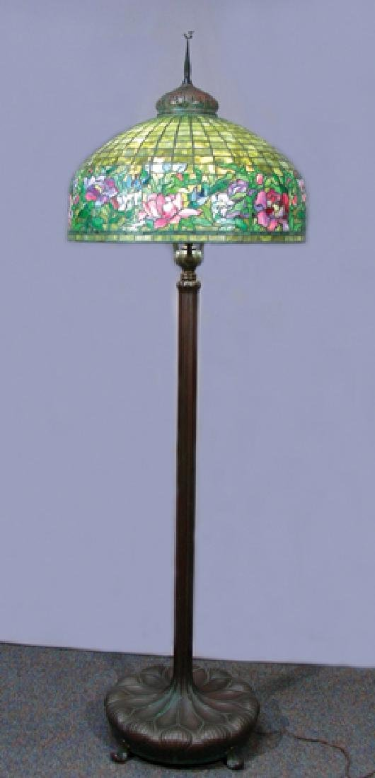 BEAUTIFUL, ORIGINAL TIFFANY STUDIOS FLOOR LAMP