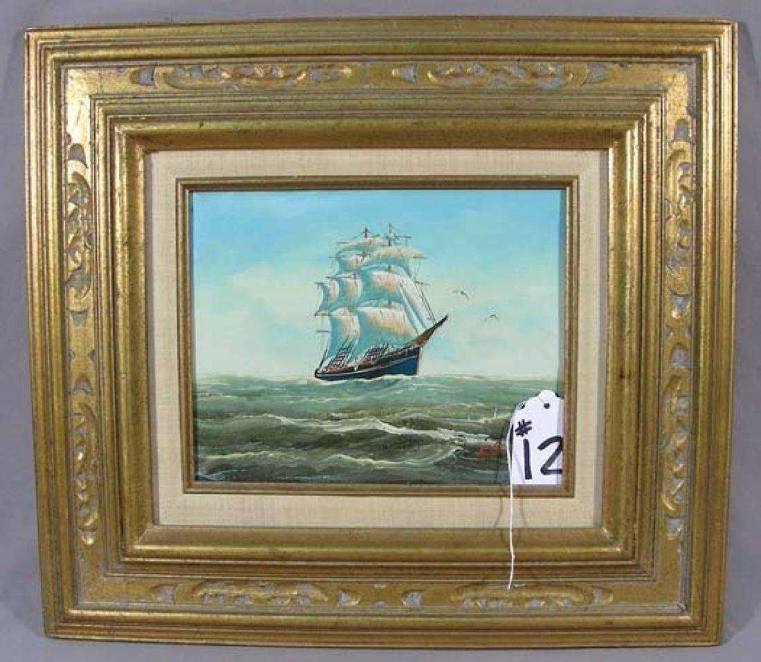 ORIGINAL OIL ON CANVAS:  CLIPPER SHIP
