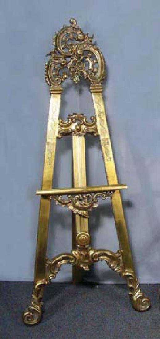 BEAUTIFULLY CARVED GILT EASEL