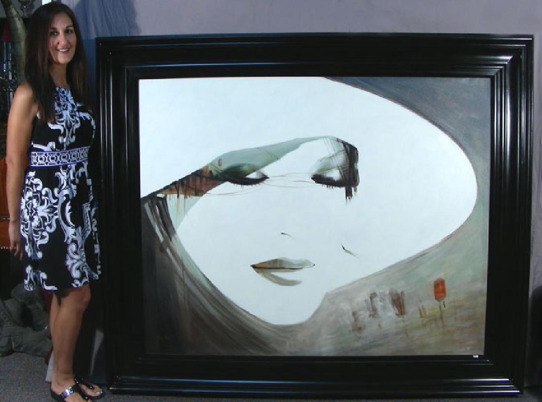 ORIGINAL OIL ON CANVAS PORTRAIT OF WOMAN