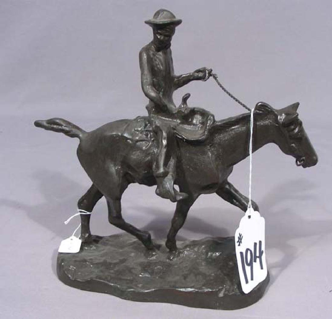 BRONZE SCULPTURE OF WILL ROGERS ON HORSEBACK