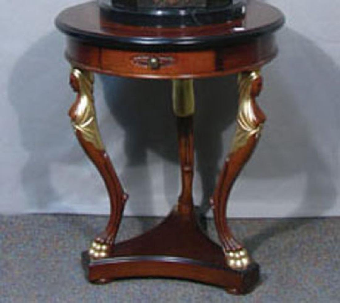 FINE HAND CARVED WOODEN FIGURAL TABLE
