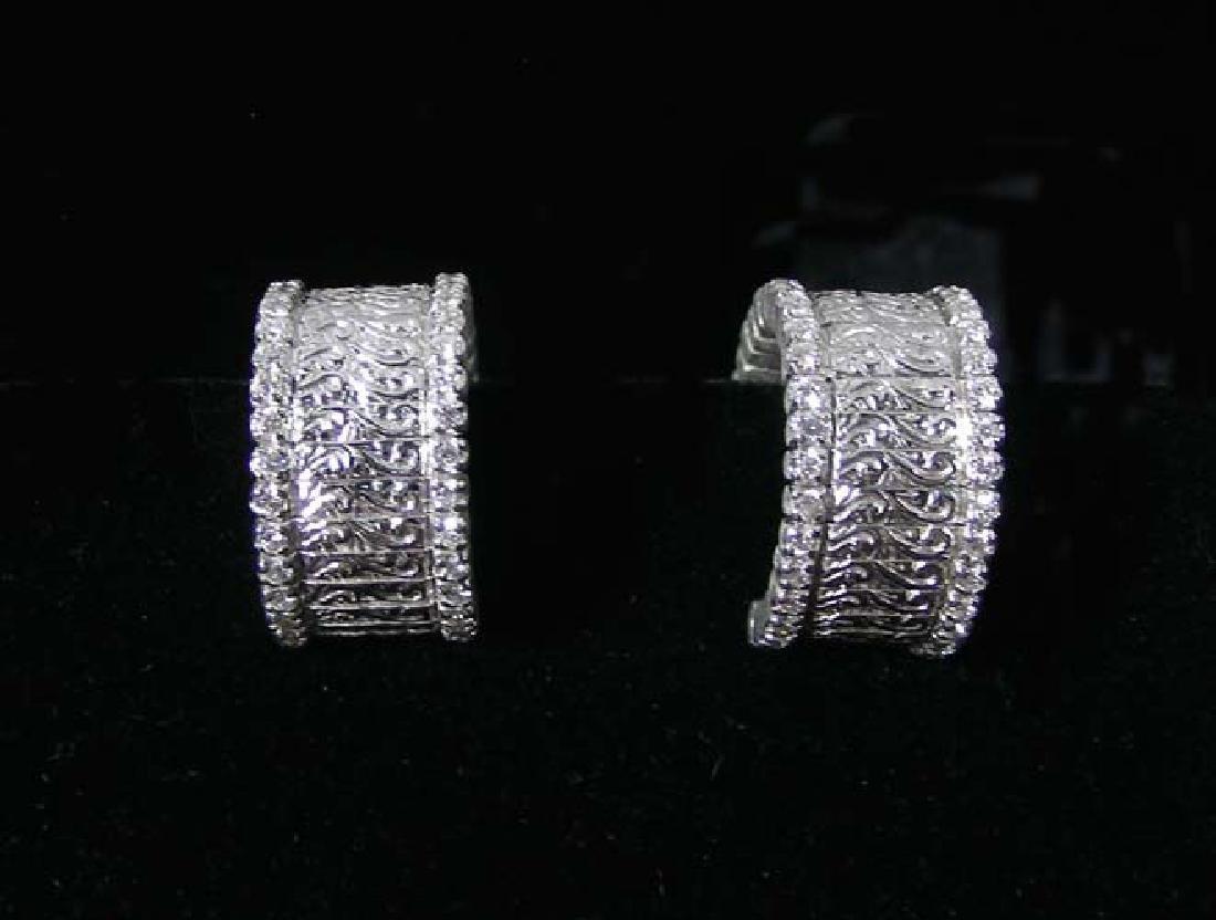 DESIGNER ROBERTO COIN 18K WHITE GOLD AND DIAMOND