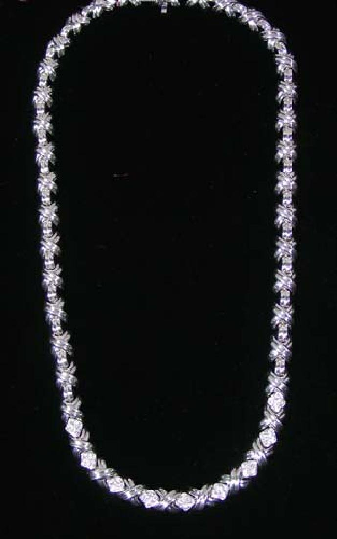 TIFFANY & CO. 18K WHITE GOLD AND DIAMOND NECKLACE
