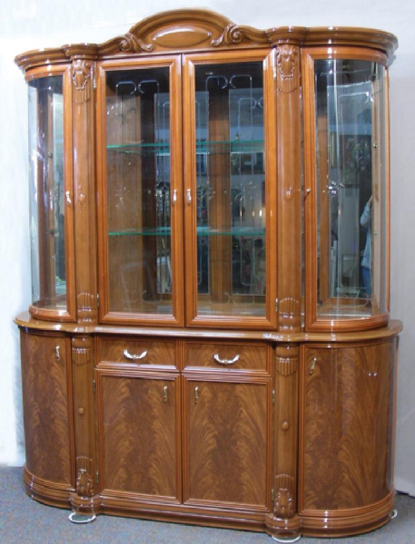 FINE HAND CARVED ITALIAN CHINA CABINET