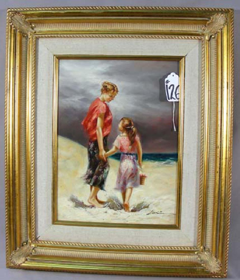 "ORIGINAL OIL ON CANVAS ""MOTHER & CHILD"