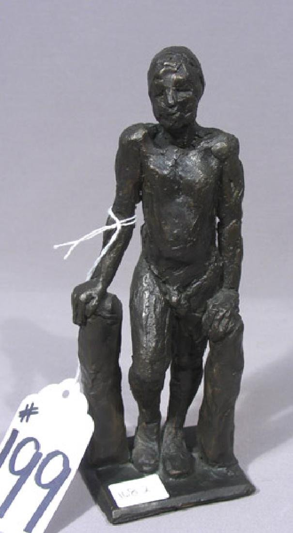 ORIGINAL ABSTRACT BRONZE SCULPTURE OF STANDING MAN