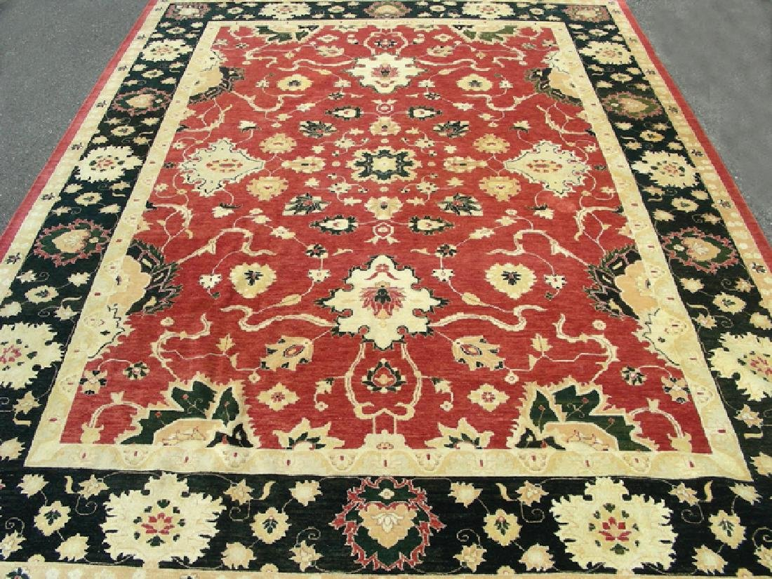 VERY LARGE HAND KNOTTED AGRA AREA RUG