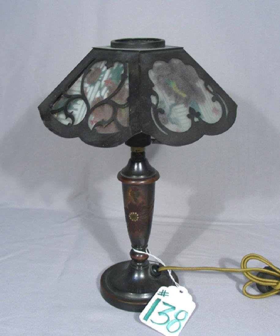 SMALL PAIRPOINT REVERSE PAINTED TABLE LAMP
