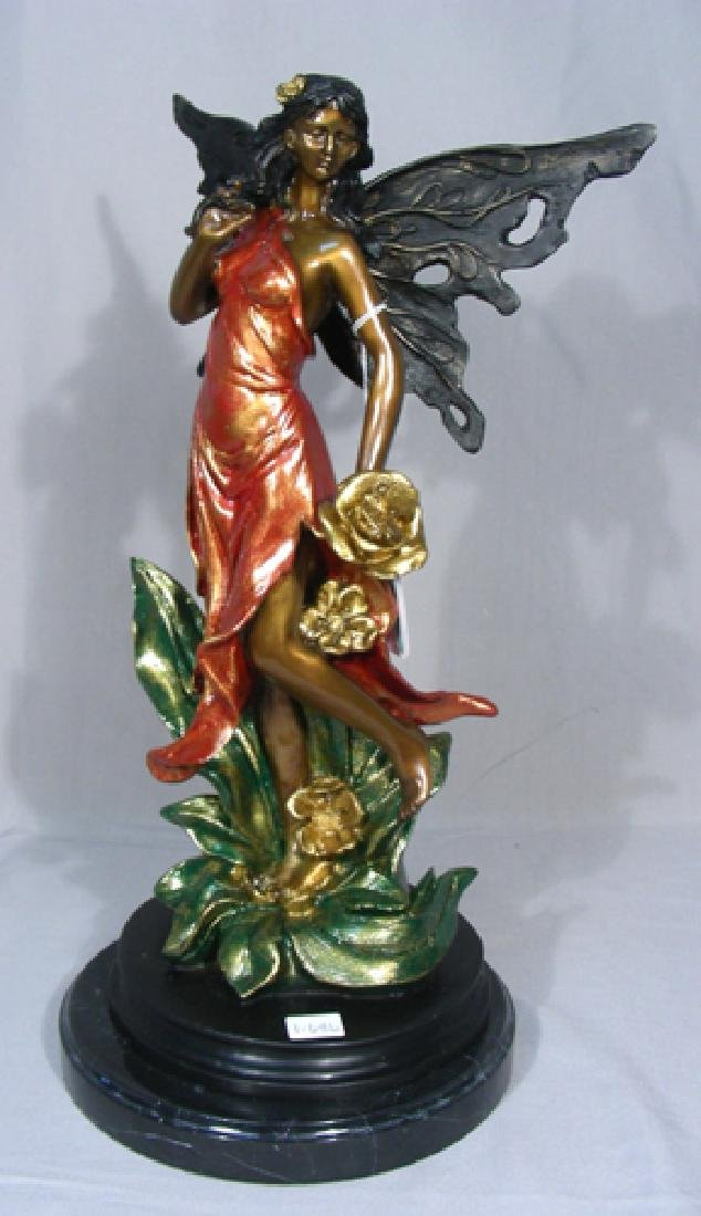 BRONZE SCULPTURE OF STANDING FAIRY