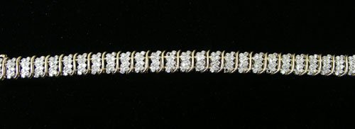 LADIES 14K YELLOW GOLD & DIAMOND BRACELET