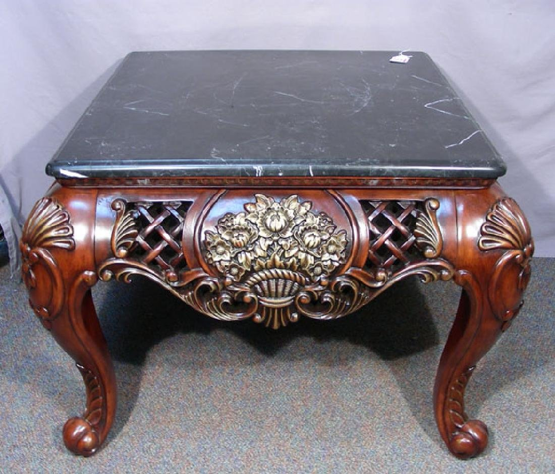 LARGE CARVED SIDE TABLE