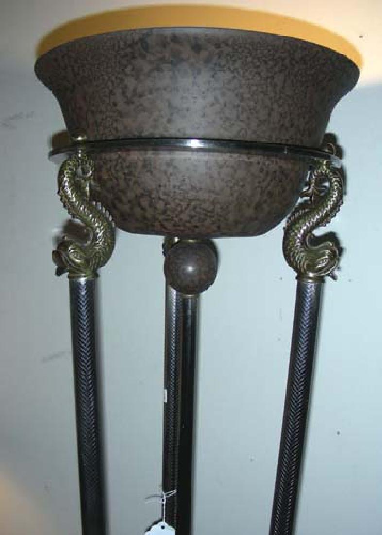 DESIGNER METAL AND BRASS FLOOR LAMP
