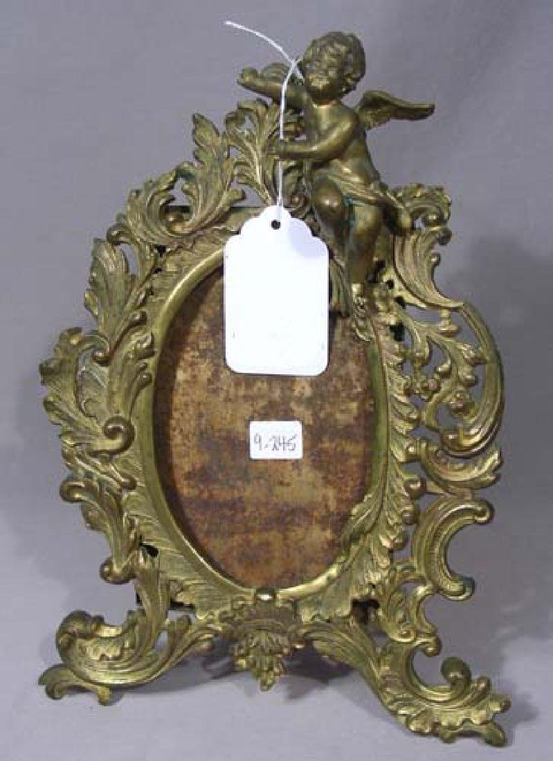 ANTIQUE GILT METAL PHOTO FRAME