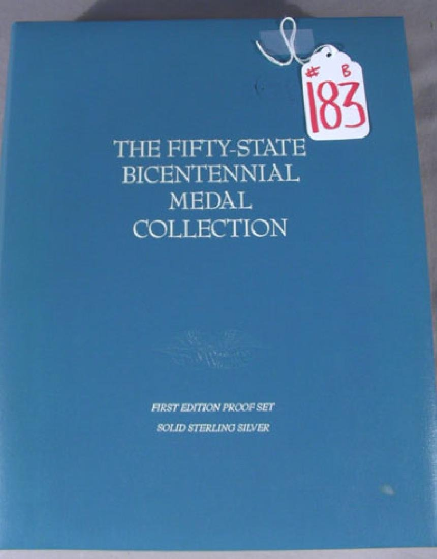 """BOOK FIRST EDITION PROOF SET """"THE 50 STATE BICENTENNIAL"""