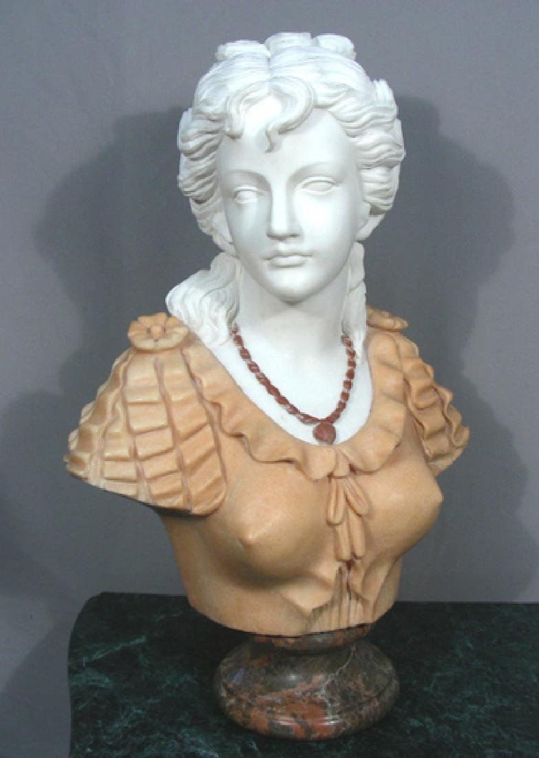 ITALIAN HAND CARVED MARBLE BUST