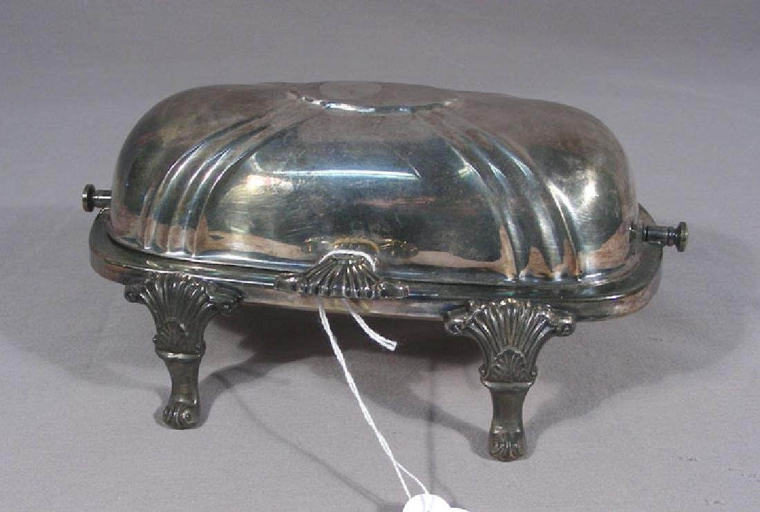 VINTAGE SILVER PLATED BUTTER DISH