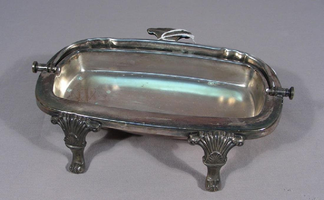 VINTAGE SILVER PLATED BUTTER DISH - 2