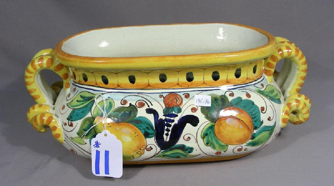 HAND PAINTED HAND PAINTED PORCELAIN PLANTER