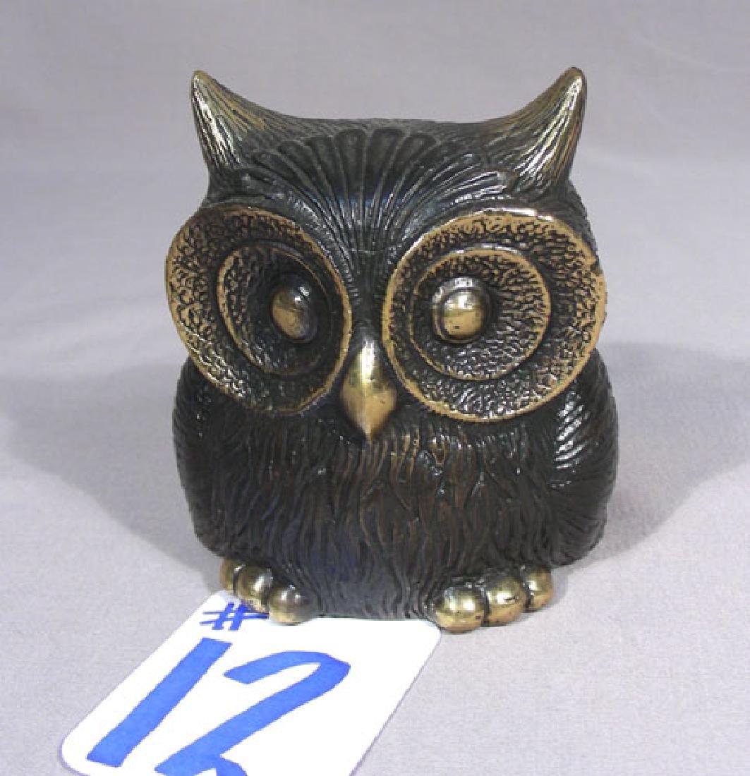 ADORAGLE BRONZE SCULPTURE OF OWL