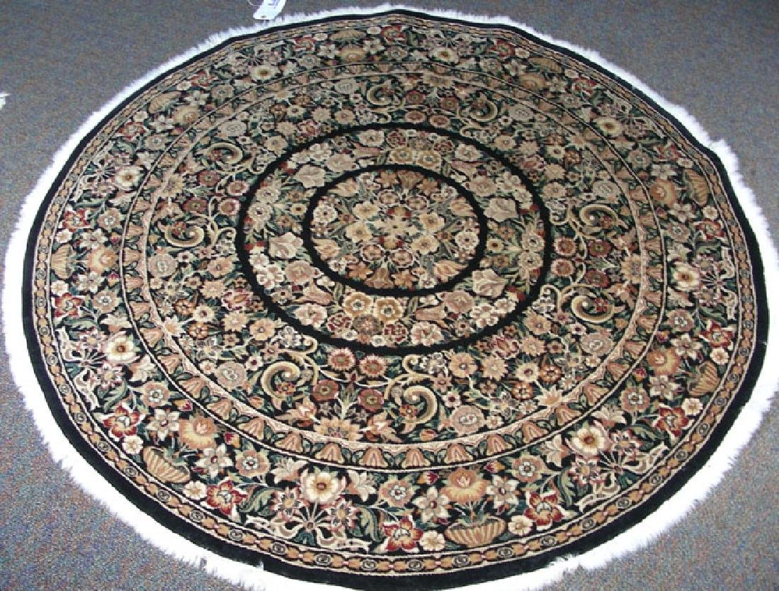 FINE HAND KNOTTED TABRIZ ROUND AREA RUG