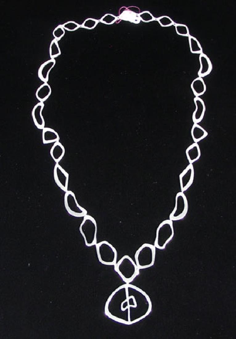 UNUSUAL STERLING SILVER NECKLACE - 2