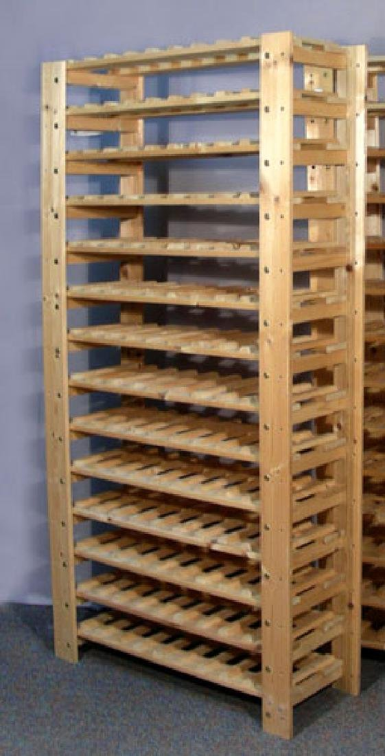 SOLID PINE WINE RACK
