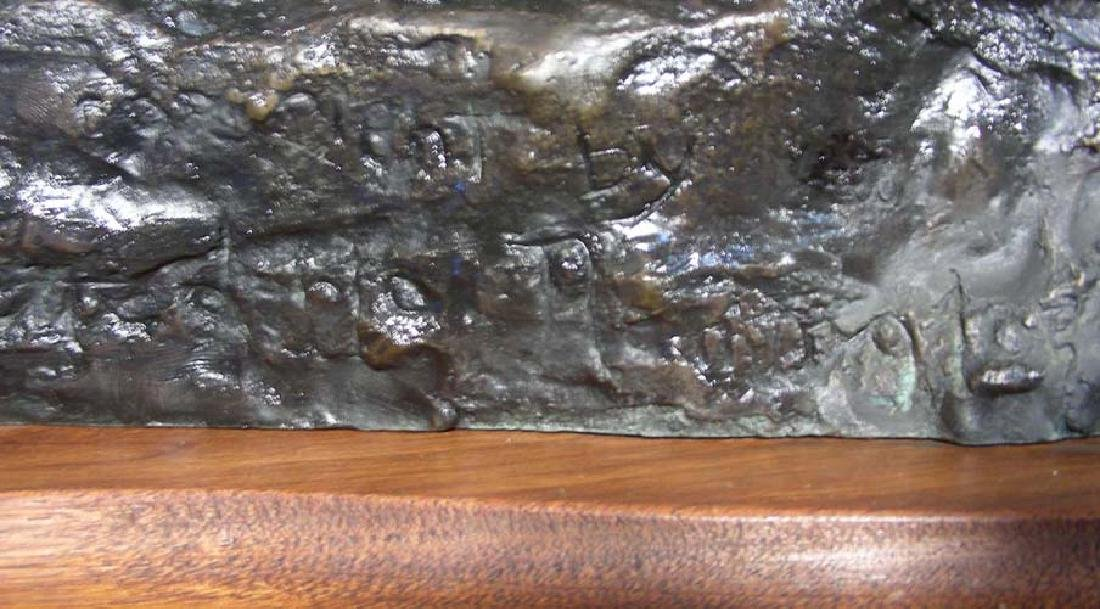 """VERY LARGE VINTAGE BRONZE SCULPTURE """"THE OLD DRAGOONS"""" - 2"""