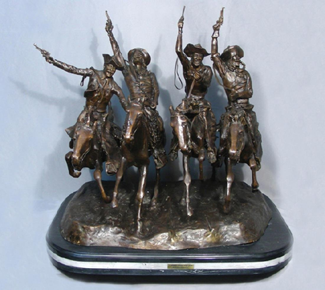 """BRONZE SCULPTURE """"COMING THRU THE RYE"""" AFTER FREDERIC"""