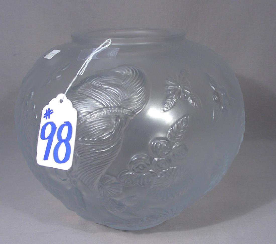 RARE ERTE' FROSTED CRYSTAL BOWL
