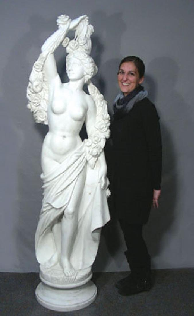 OUTSTANDING LIFE SIZE ITALIAN HAND CARVED MARBLE