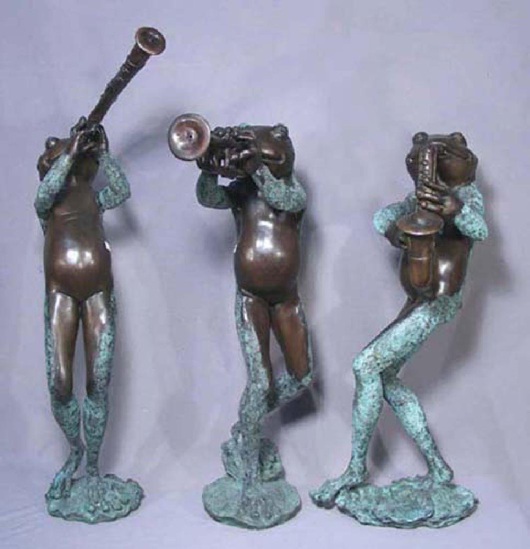 "THREE HUMOROUS BRONZE SCULPTURES/ FOUNTAINS ""MUSICAL"