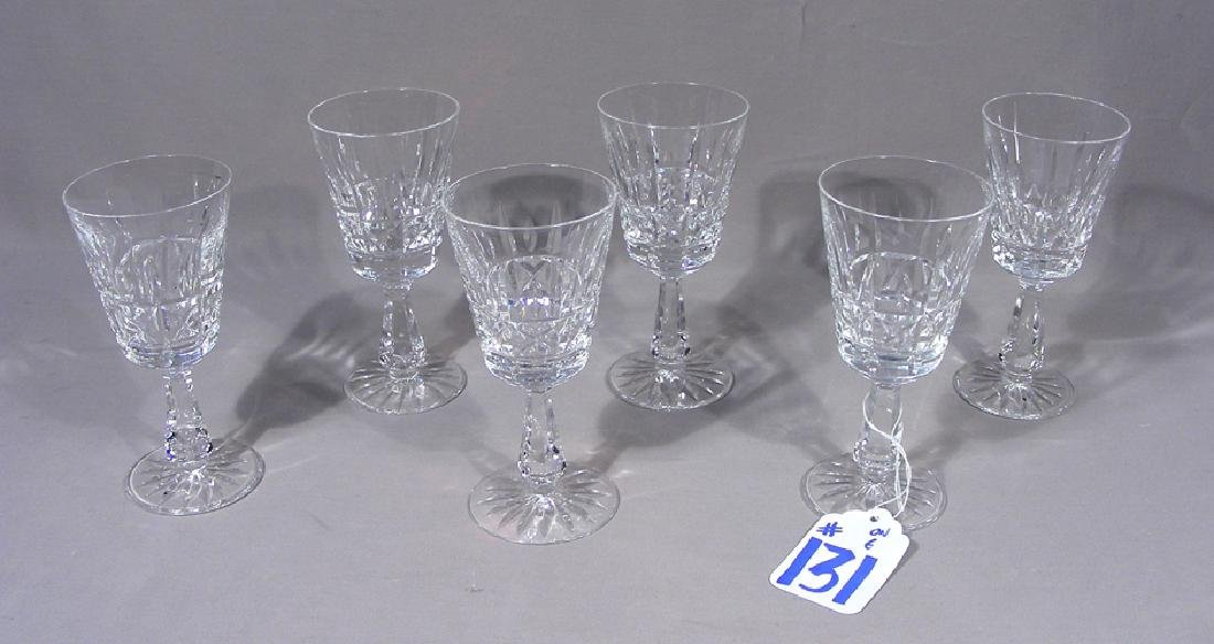 SIX WATERFORD CRYSTAL WINE GLASSES
